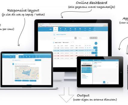 Een link tussen oa. TomTom Telematics en ons monitor platform zorgt ervoor dat je steeds vinger aan de pols behoudt.